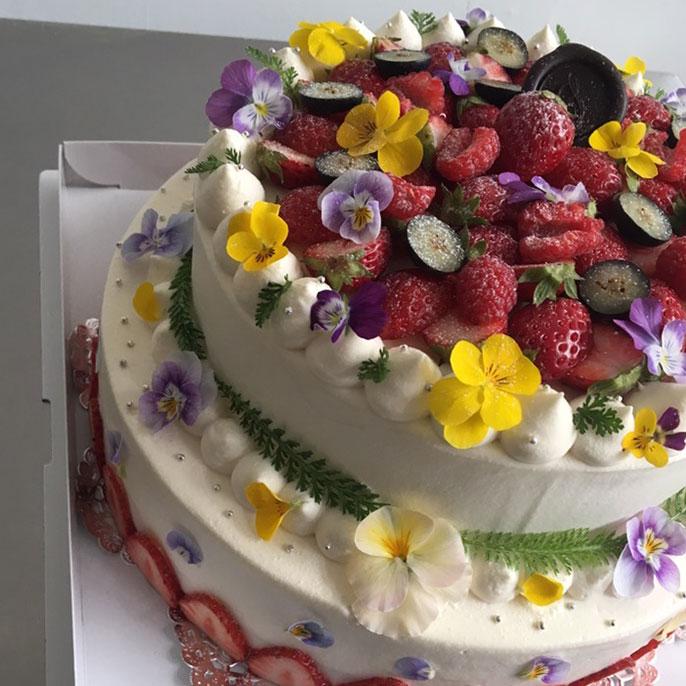 WEDDING CAKE(8号、6号の2段)