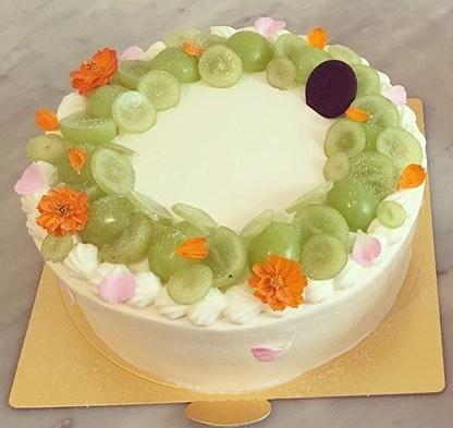 葡萄&カスタード ショートケーキ